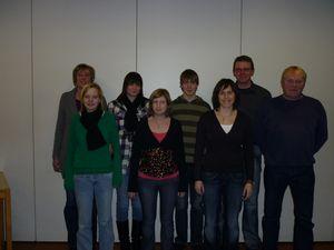 Andrea Meyer, Natascha Büning, Lena Meyer, Beate Eichmann, Jannes Blesenkemper, Stefanie Brands, Uwe Meyer und Rainer Schweers (von links nach rechts)